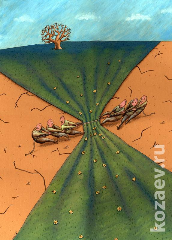 экология ecology  карикатура темур козаев cartoon caricature temur kozaev