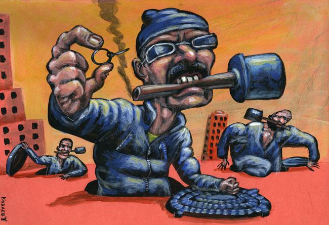 Terrorists in the City темур козаев карикатур