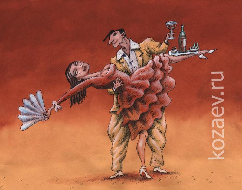 Станцуем! темур козаев карикатура temur kozaev cartoon caricature