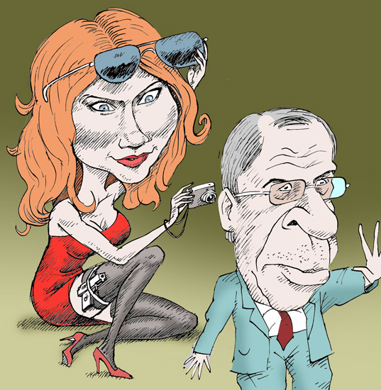 Чапман Анна Лавров Anna Chapman Lavrov темур козаев карикатура temur kozaev cartoon caricature