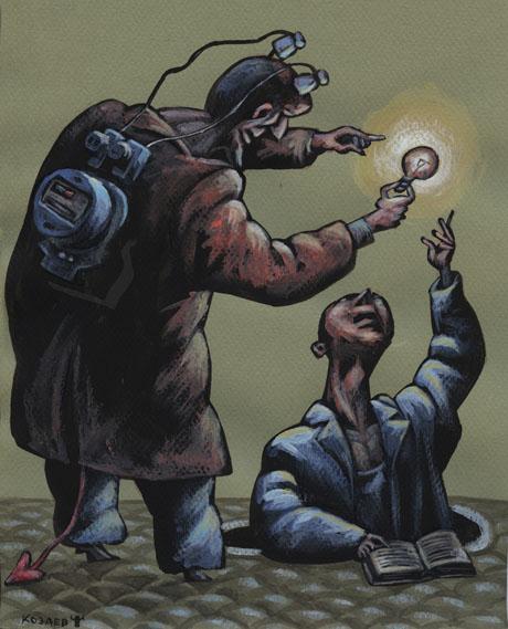 Чертова лампочка темур козаев карикатура temur kozaev cartoon caricature