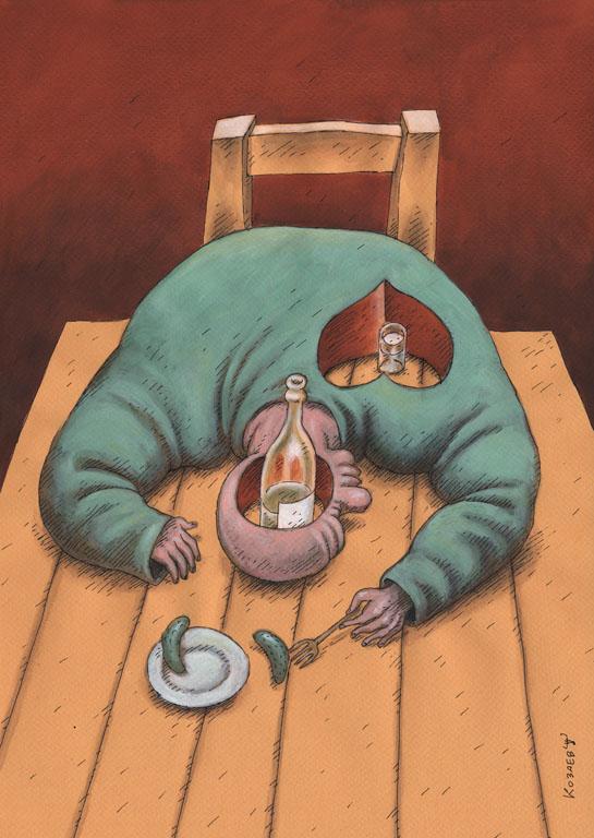 Алкоголь карикатура темур тимур козаев cartoon caricature temur kozaev