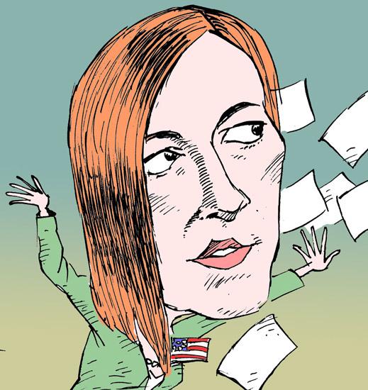 Дженнифер Псаки Jennifer Psaki темур козаев карикатура temur kozaev cartoon