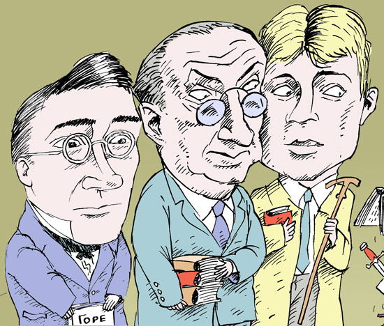 Александр Грибоедов, Владимир Набоков, Сергей Есенин