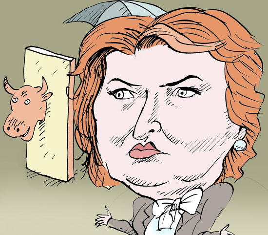 Елена Скрынник бывший министр сельского хозяйства темур козаев карикатура temur kozaev cartoon caricature