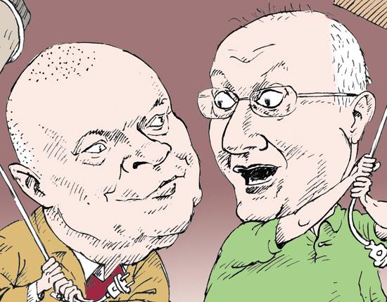 Дмитрий Киселев, Матвей Ганапольский темур козаев карикатура temur kozaev cartoon caricature